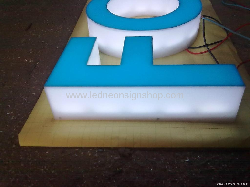 Full lit acrylic letter signs 2