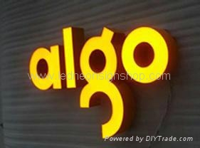 Full lit acrylic letter signs 5