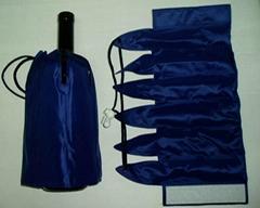 2014 promotional drawstring wine bottle cooler