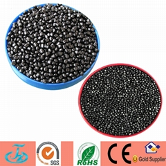 Economic black masterbatch mainly for recycled HDPE garbage bags