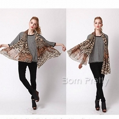 Lady's Wave Point Leopard Leopard Print Scarf Scarves Shawls