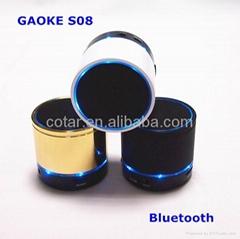 S08 Beautiful flash led light bluetooth speaker with FM radio