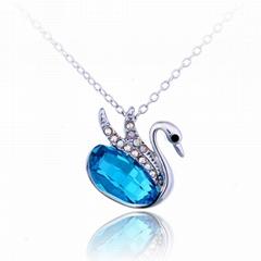 Swan Pendant Necklace wholesale imitation jewelry