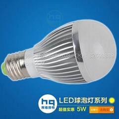 客廳筒燈光源5W室內輝晴高亮度LED球泡燈