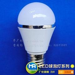 LED燈泡3W廠價實惠款色時尚