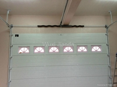 sectional garage door with PU and CE