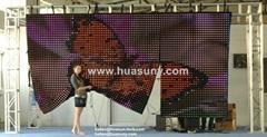 Factory wholesale P75mm FLC Flexible LED Curtain