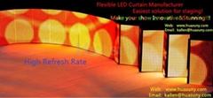 P6mm Factory wholesale Rubik Flexible LED Curtain