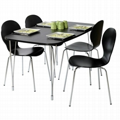 Designa Black Ash Dining Table With Chrome Legs With Or Without Chairs