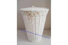 Round Willow Hamper Laundry Basket