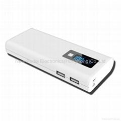 Portable POWER BANK (Dual USB + LED Digital Display8800mah + LED lighting)