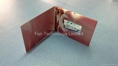 2.8 inch TFT LCD Video Greeting Card Brochure 128MB Flash 450mAh Battery