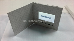 3.5 inch LCD Video Brochure Invitation Greeting Card with Magnetic Switch