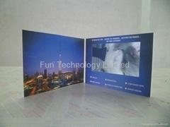 7 inch LCD Video Presentation Card Brochure with 2GB Memory Magnetic Switch