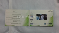 4.3 inch LCD Touch Screen Video Greeting Card Brochure with Artwork Print