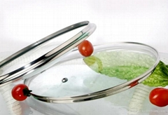 G type tempered glass lid for cookware pans
