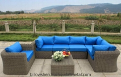 Modern Outdoor All Weather PE Rattan Sofa Set