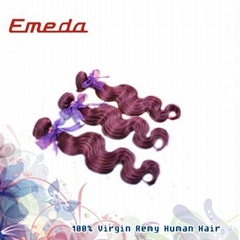 Free shipping 2014 best seller 10''-26'' body wave Malaysian red human hair exte