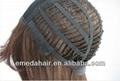 wholesale synthetic fiber wavy Kanekalon silk dark blue cosplay wig 2