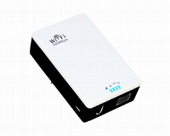 300Mbps 2T2R Wall Mount portable WiFi Repeater with WPS button, easy to bridge