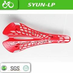 Fiberglass nylon mountain bicycle saddles
