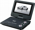 7 inch  Portable dvd player with Swivel