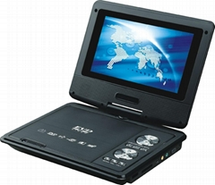 7 inch portable dvd player with DVD/TV/FM/USB/game/CE/ROHS with 3D function