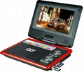 7 inch portable dvd player with DVD/TV/FM/USB/game/CE/ROHS with 3D function 3