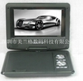 7 inch portable dvd player with DVD/TV/FM/USB/game/CE/ROHS with 3D function 4