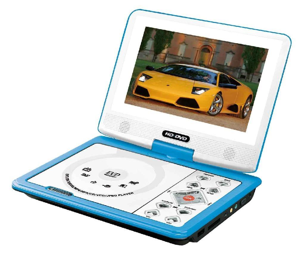 迷你型7寸便携式DVD播放器带游戏/USB/MPEG4/TV功能 1