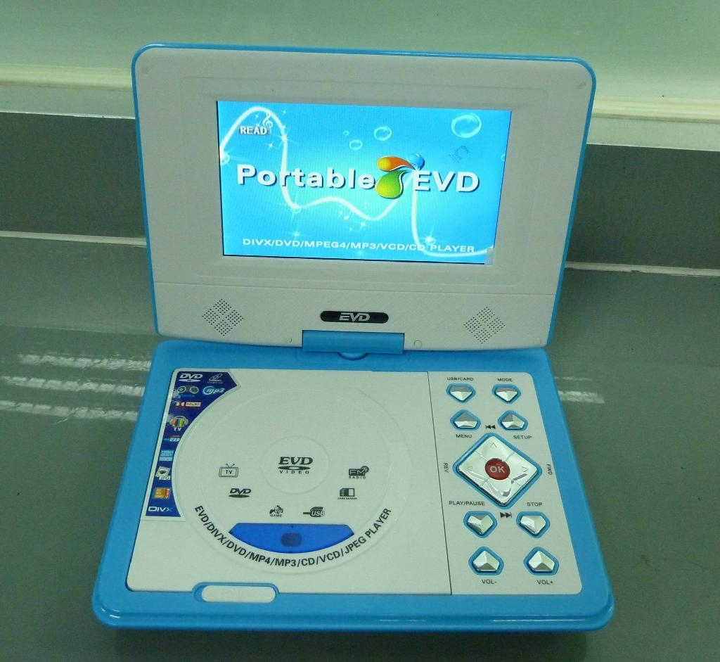 Mini 7 inch LCD Portable DVD Player with GAME USB MPEG4 TV  2