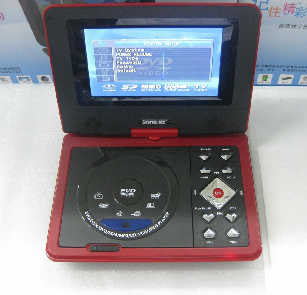 迷你型7寸便携式DVD播放器带游戏/USB/MPEG4/TV功能 4