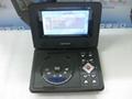 迷你型7寸便携式DVD播放器带游戏/USB/MPEG4/TV功能 5