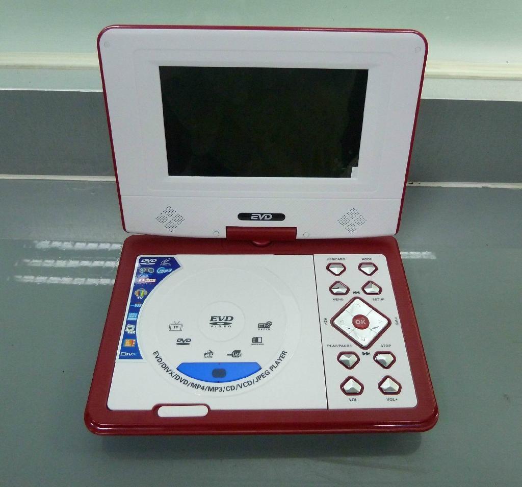 迷你型7寸便携式DVD播放器带游戏/USB/MPEG4/TV功能 3
