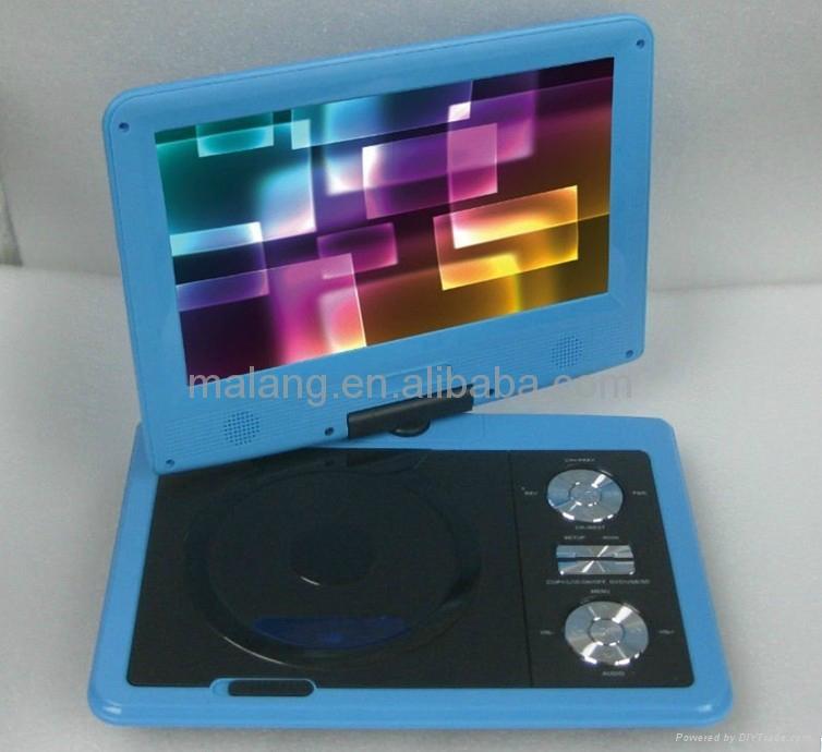 廠家直銷9寸數字模擬通用便攜式DVD播放機帶多功能 2