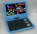 "Best Selling 9"" portable dvd player with TV/AV/FM/GAME 5"