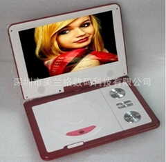 Made in China cheap 9.5 inch 3D portable dvd player with TV/GAME/FM/USB/SD reade