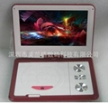 Made in China cheap 9.5 inch 3D portable dvd player with TV/GAME/FM/USB/SD reade 4