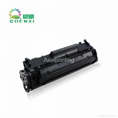 Compatible black toner cartridge 12A design for HP laserjet printer