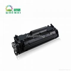 Compatible black toner cartridge 12A design for HP laserjet printer