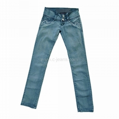 Lady's Stylish Straight Women's Long jeans Print