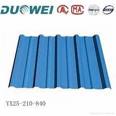 Color steel cove sheet for roof