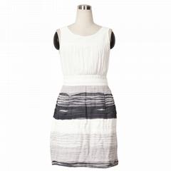 Women Heavy Ruffle Chiffon fashion party Dress
