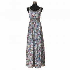 NEW PRINT NEW BEADING PARTY DRESS