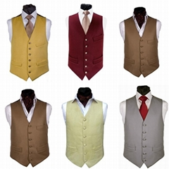 Mens flora waistcoat vest uniform wedding