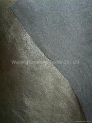 Semi-dull PU imitation leather bronzed fabric
