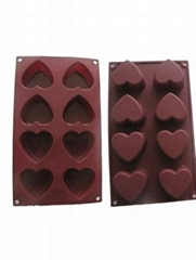 Silicone Ice Cube Chocolate Cake Jelly Tray Pan Heart Maker Mold Mould durable S