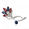 Fashion Flower Brooch Made with Genuine Austrian Crystals