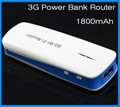 3g portable power bank router 1800mAh