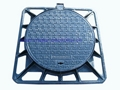 casting manhole cover lid with frame